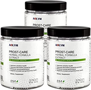 AOLYM Advanced Prostate Health Supplement for Men, Natural Extra Strength Formula, Prostate Support, Reduce Frequent Urina...