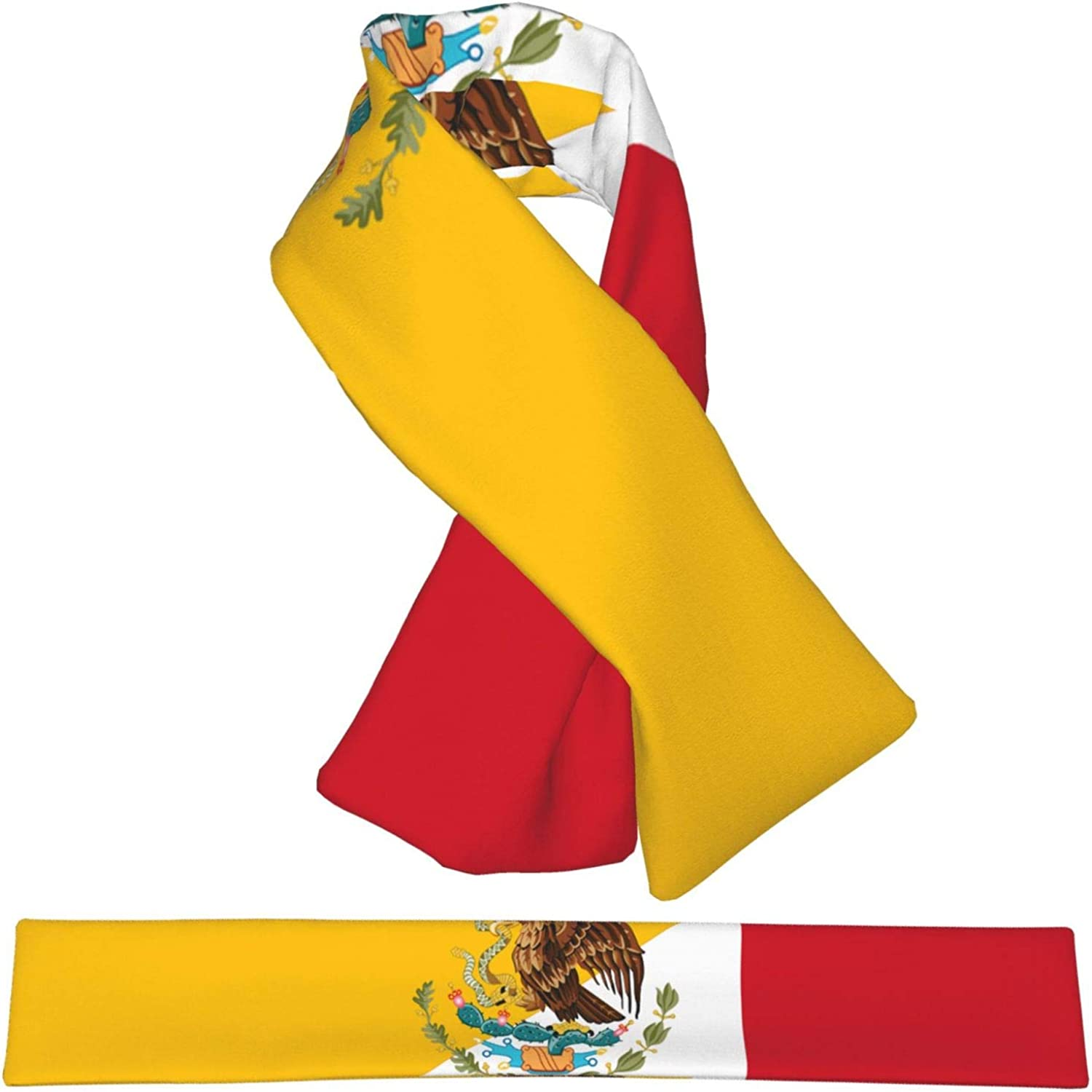 Winter Scarfs Flag Of Spanis Mexican Scarves Wraps Neck Warmer Flannel Winter Cross Tie Scarves