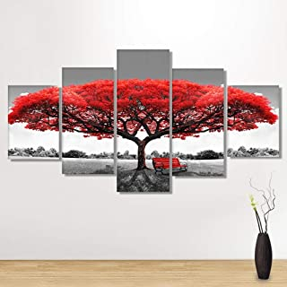 5D DIY Art Diamond Drawing Canvas Home Decoration in 5 Pieces,5 Panels of Splicing Painting Mural (95 X 45cm / 37.4 X 17.72