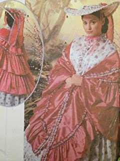 OOP Simplicity Civil War Costume Pattern 5444. Misses Mantel (Shawl) and Hat. One Size Fits Szs 6 Through 24