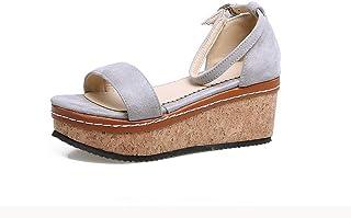 BalaMasa Womens ASL06234 Pu Platform Heels