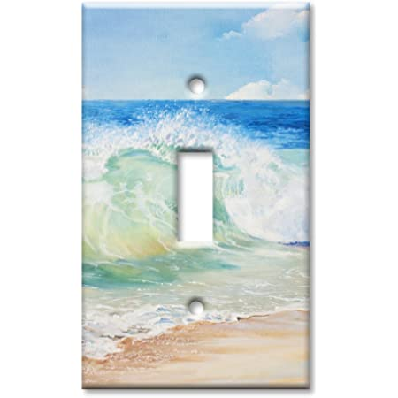 Art Plates Brand Single Toggle Switch Wall Plate Beach Painting Amazon Com