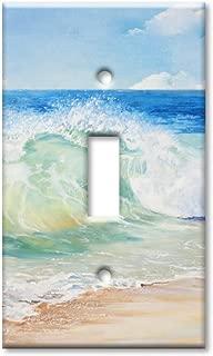 Art Plates Brand Single Toggle Switch/Wall Plate - Beach Painting