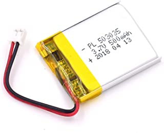 DC 3.7V 500mAh 503035 Lipo Battery Rechargeable 2P PH 2.0mm Pitch Lithium Polymer ion Battery Pack with JST Connector