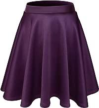 FLATSEVEN Womens Flared Skater Mini Skirt (Made In USA)