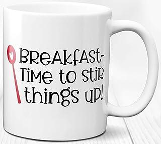Desayuno tema Comida Cita Café Té Taza 330 ml Taza de cerámica Amante de la mañana