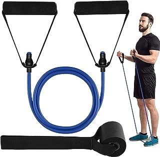 HaroFit Enstaka motståndsband med handtag-träningsband viktband för fysisk terapi, motståndsträning, hemträning, dörrankar...