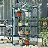 WMQ Mini Invernadero para Interiores y Exteriores, invernaderos de Plantas pequeñas con, Invernadero portátil con Cubierta de PVC Transparente Mejorada, casa cálida para jardín/Patio/Patio Trase