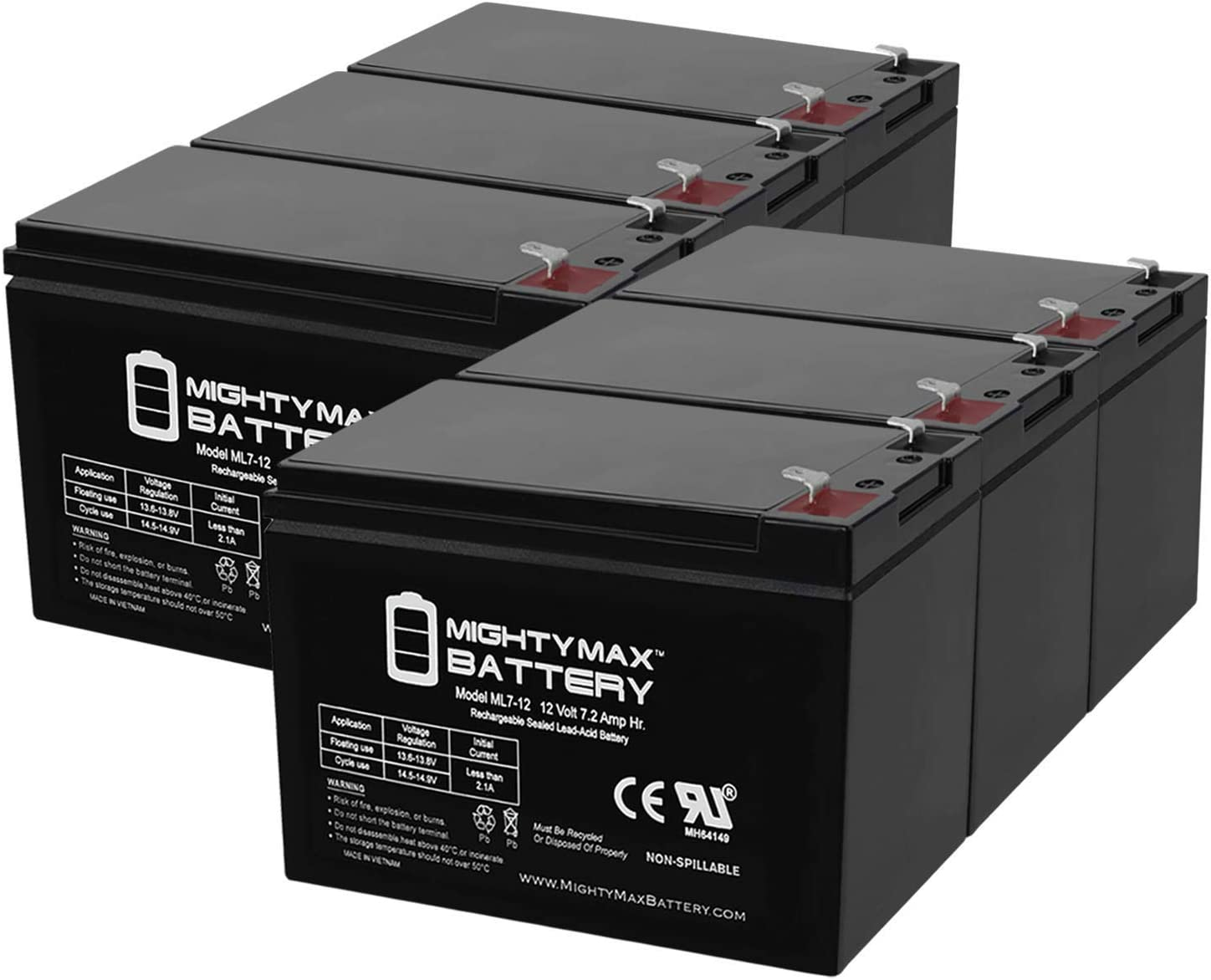 Mighty Max 67% OFF of fixed price Battery 12V 7.2AH for Liebert Replacement SLA Gifts
