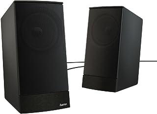 Hama Sonic ls-2088W Black Speaker–Speakers (2.0Channel, 8W, 100–20000Hz, 4Ω, Black)
