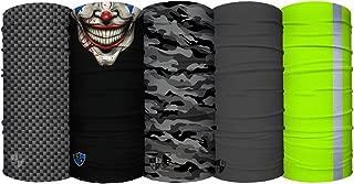UV Face Shield 5 Pack - Multipurpose Neck Gaiter,...