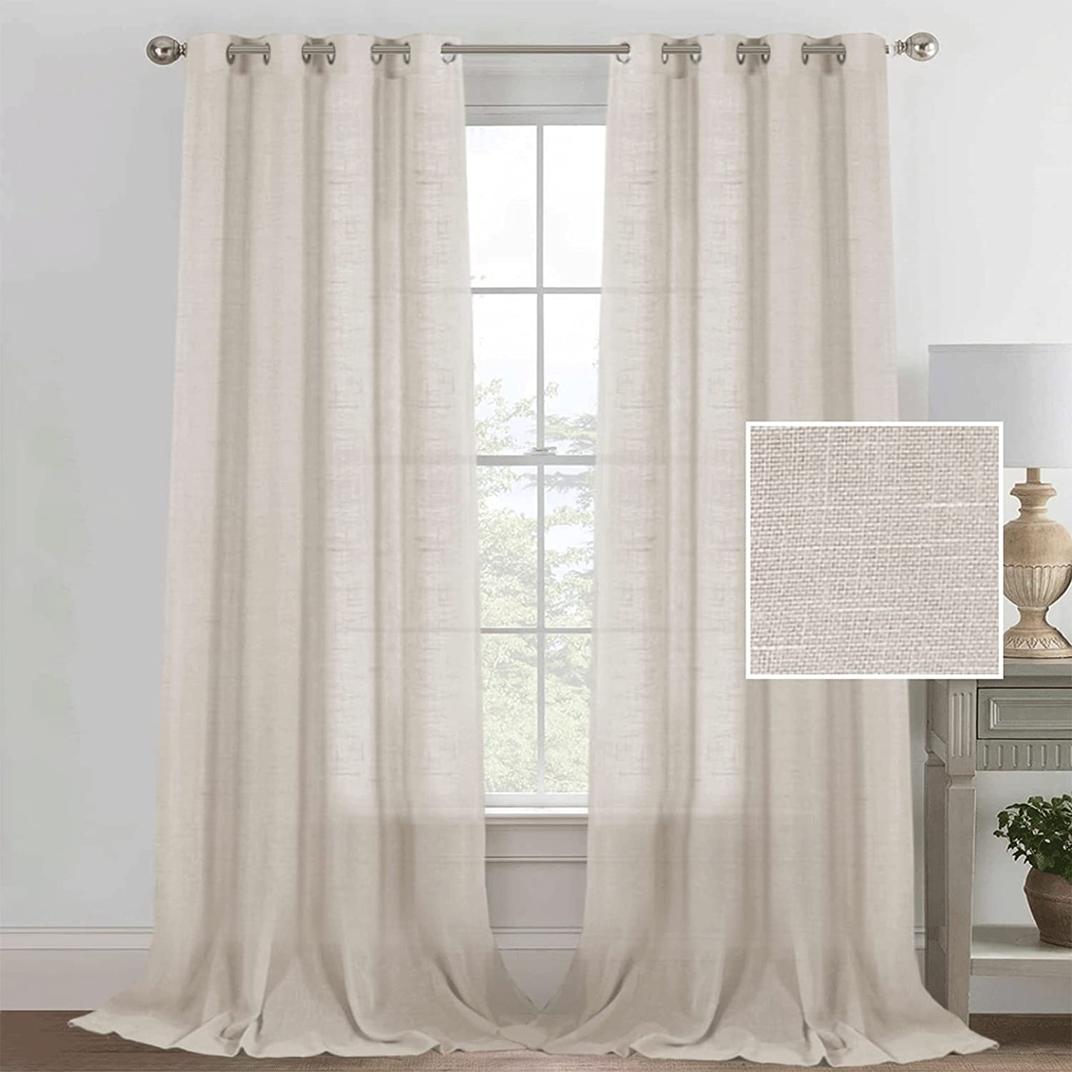 Now on sale QBV Curtains Linen Textured Casual Weave Curtain Room for Indianapolis Mall Living