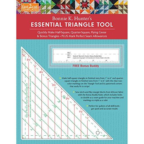 C&T PUBLISHING Essential Triangle Tool, 30.48 x 24.13 x 0.43 cm, Multi-Colour