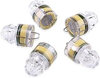 OPOLEMIN 【Upgraded】 Fishing Lure Light Deep Drop Underwater, Water-Triggered Design & Seven Sealed Diamond LED, Versatile Flashing Fishing Light Squid Strobe (5PCS)