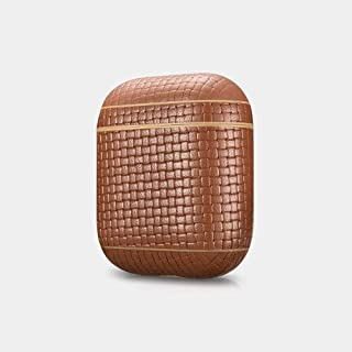 Protective Case Real Leather Woven Pattern