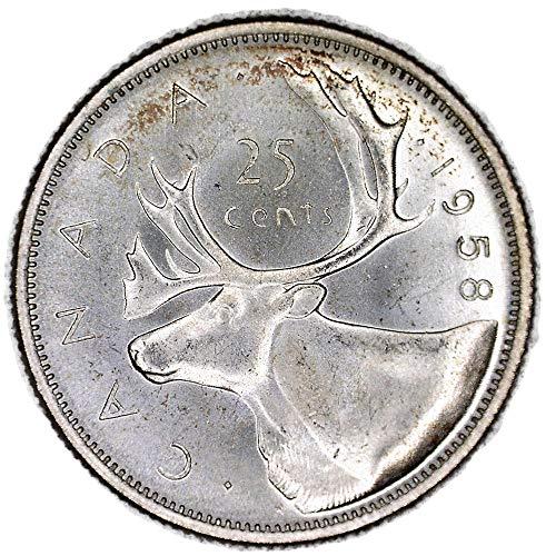 1958 CA Elizabeth II Canadian Quarter Good
