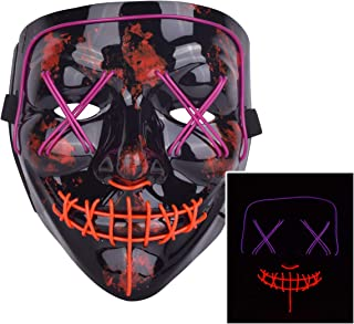 Scary LED Mask Halloween Costume Light up Mask Cosplay EL Wire Mask Glowing mask