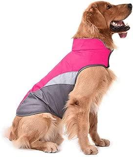 D-DUK Dog Winter Warm Jacket Dog Cold Weather Coat Dog Windproof Reflective Vest Dog Medium Large Warm Sport Vest Jackets