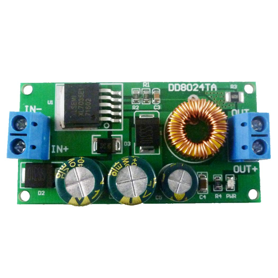 Eletechsu 3.3V DC Output 10V-80V to 3.3V High-Voltage DC-DC Buck Step-Down Converter DC-DC Module Power Supply Board for LED Motor Fan (DC 3.3v with Terminal, 1)