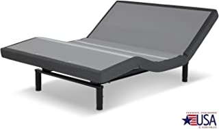DynastyMattress 12-Inch CoolBreeze GEL Memory Foam Mattress with Scape 2.0 Adjustable Beds Set Sleep System Leggett & Platt Made in USA! (QUEEN-GREY)