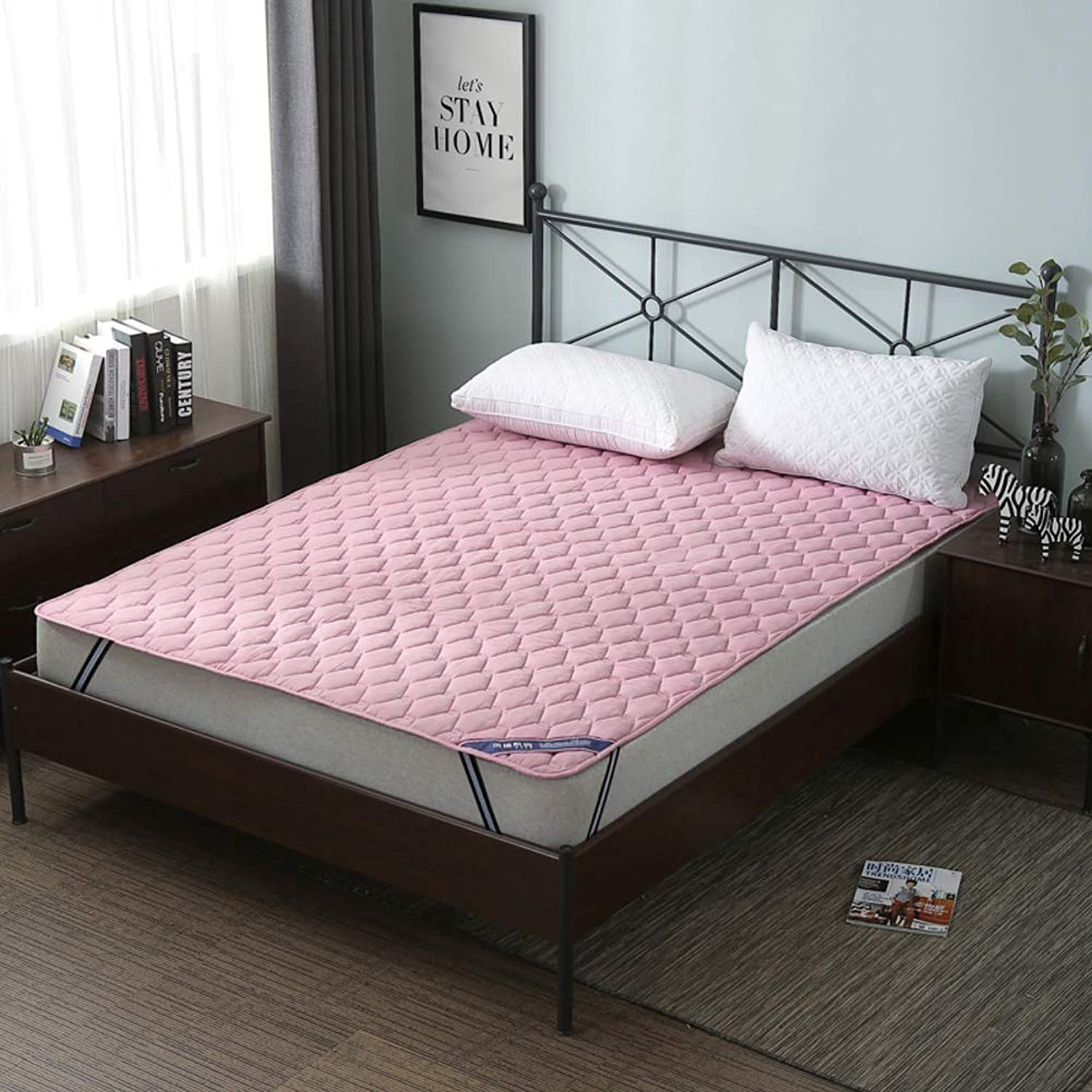 Waterproof Bed Pad,Tatami Bed Mattress,Thin Mattress 100% Cotton Anti-skidding Collapsible for Bedroom-A 120x200cm(47x79inch)