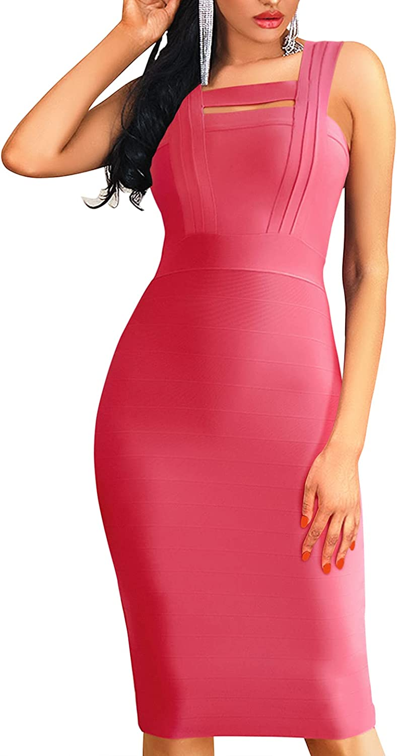 Womens Bodycon Dresses Bandage Party Dresses Cocktail Night Club Dress