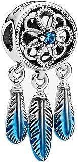 TopLAD Spiritual Dreamcatcher Sterling Silver Charm fits Pandora Charm Bracelets 925 Silver DIY Fashion Jewellery