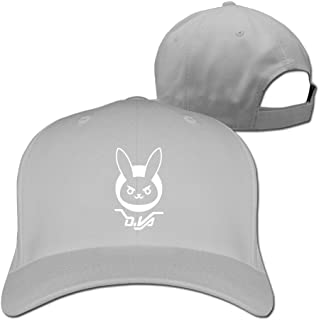 CEDAEI DVA Bunny Over First-Person Shooter Video Game Watch Particular AdultBaseball Caps Hat Navy