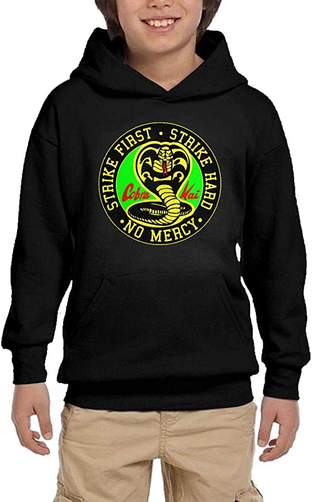 Cobra Kai Karate Dojo Boys Classic Max 66% OFF Max 71% OFF Pocket S Pattern Youth Hoodie