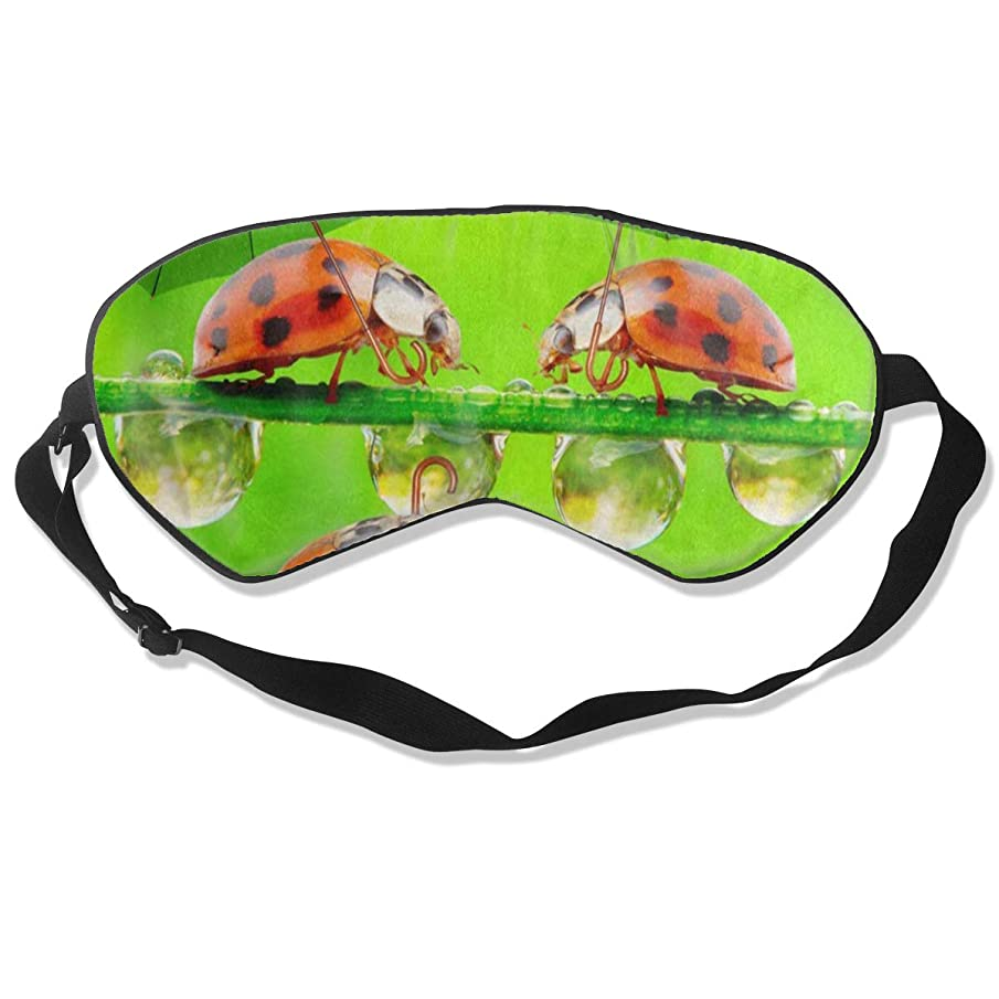Custom Sleeping Mask Landscape Nature Ladybug With Umbrella Adjustable Breathable Sleep Mask/Sleeping Eyes Mask/Sleep Eyes Mask/Eyeshade/Blindfold