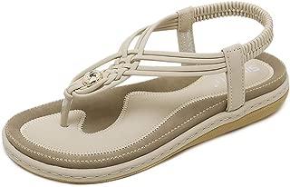 Damen Sandaletten Big Star Keilabsatz Espadrilles Schnalle Sommerschuhe Modisch
