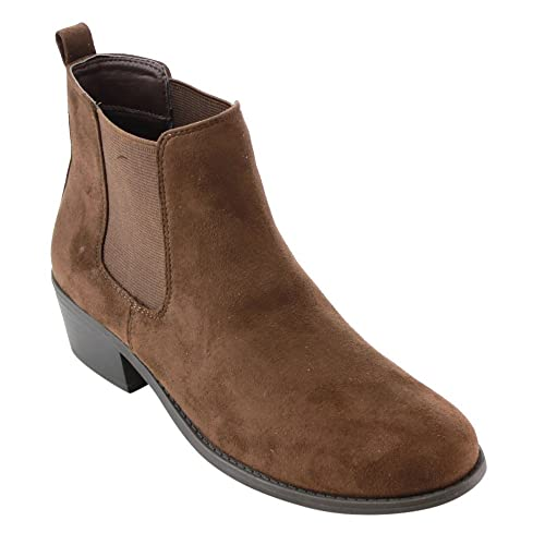 classic chic popular style latest fashion Women's Short Brown Boots: Amazon.com