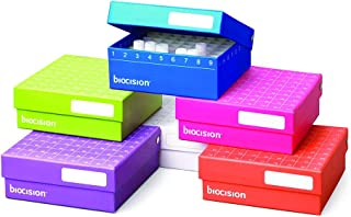 BioCision BCS-206MC TruCool Hinged CryoBox, 81-Place, Multi-Color (Pack of 5)