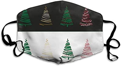 Unisex Christmas-tree Art Printed Cotton Mouth-Masks Face Mask Polyester Anti-dust Masks
