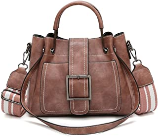 URSING_Damen URSING Elegant Retro Vintage Tasche Damen Leder Schultertaschen Umhängetasche & Handtasche Damentaschen Shopper tasche Lederhandtaschen Damenhandtaschen Citytasche Messenger Bag