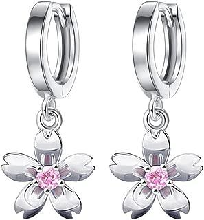 1Paire Femme Boucle D/'Oreille Pétales Fleurs Dormeuse Bijoux Cadeau Simple Rétro
