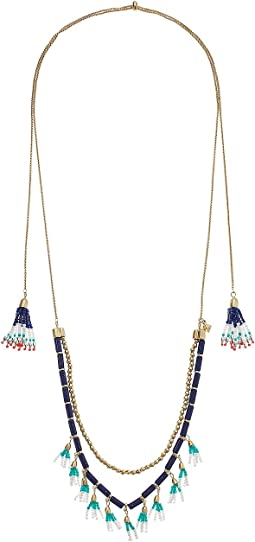 Luna Beaded Lariat Necklace