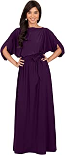 KOH KOH Flowy Formal Batwing Sleeve Evening Casual Gown