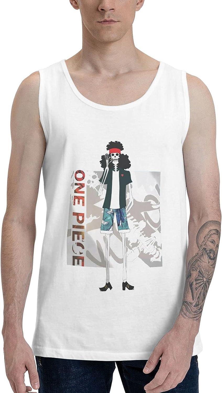 Anime One Piece Brook Tank Top Boys Unique Sleeveless Shirts Lightweight Fitness Vest