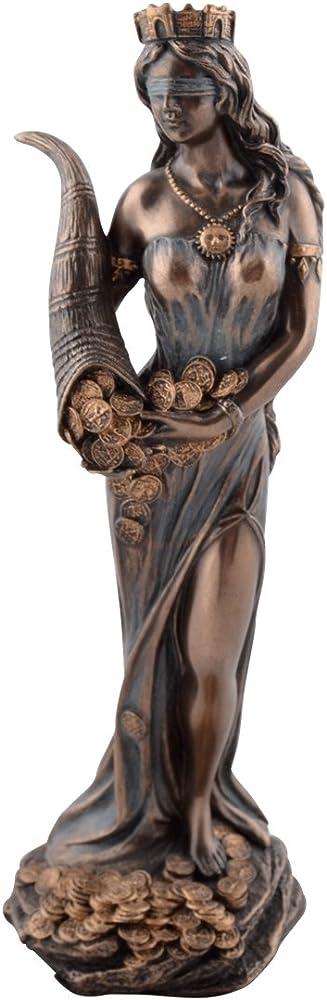 Veronese, statua della fortuna, dea romana, in poliresina, 19 cm 708-5416