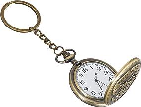 Gratus Harry Potter Theme Beautiful Designer Pocket Watch Vintage Clock Birthday Gift for Friend Metallic Keyring Key Chain