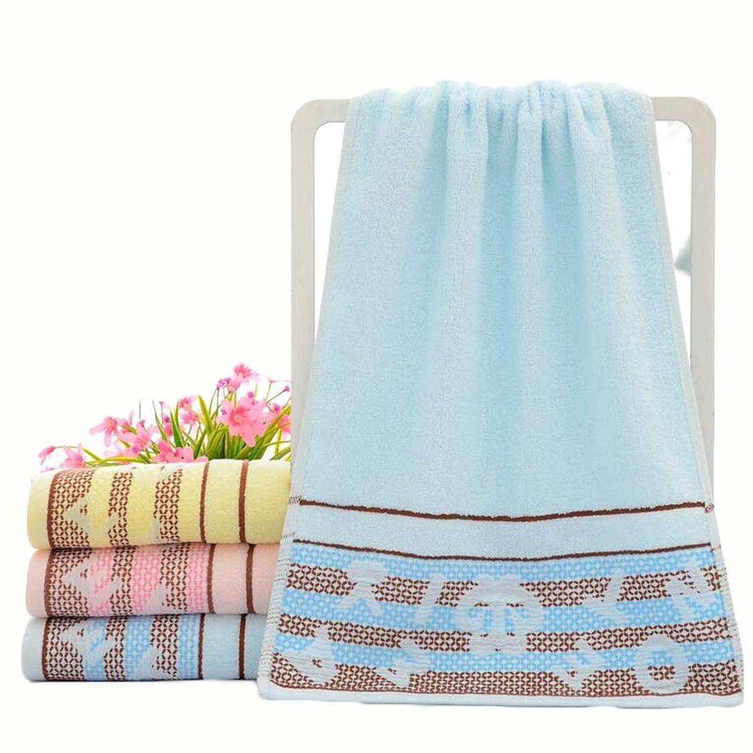 息切れ前兆ラオス人CXUNKK 2PCS / LOT家庭用綿洗いソフト吸収カップルタオル (Color : Blue)