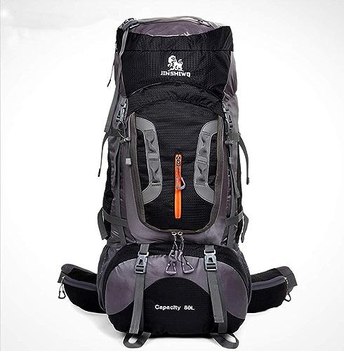 WJH Sac d'alpinisme en Plein air, Sac à Dos de Grande capacité, Sac de Camping 80L pour Hommes et Femmes
