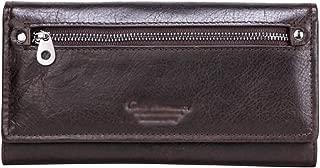 Women's Wallet Retro Clutch Bag Multi-Function Long Wallet Casual Zip Wallet Candys house (Color : Coffee, Size : 19 * 10 * 3cm)