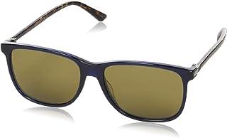 Gucci GG 0017S 005 Havana Plastic Square Sunglasses Brown Lens