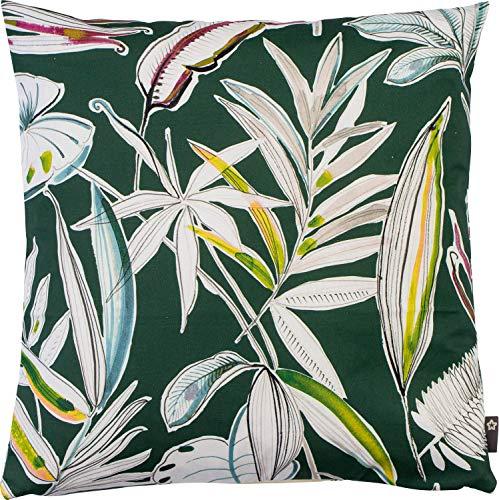 Pichler Kissenhülle Palmera Baumwolle grün Größe 40x40 cm
