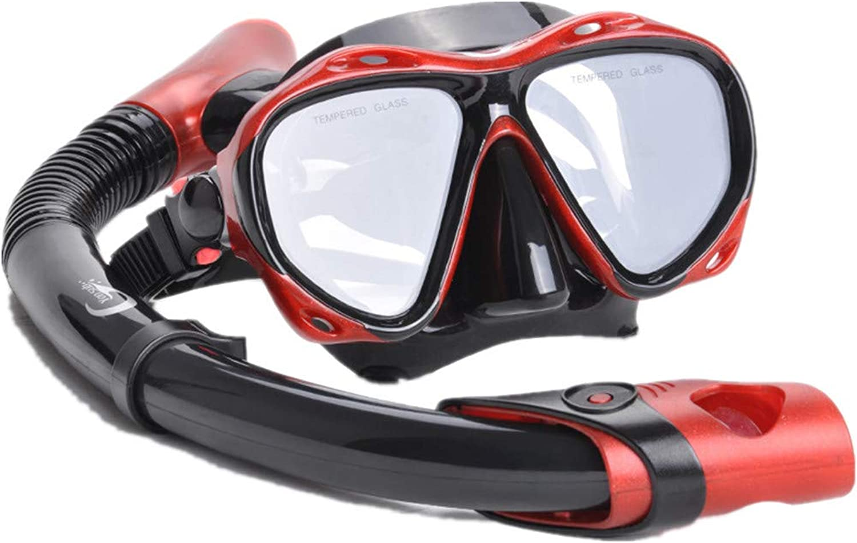 Ybriefbag スイミングゴーグル シュノーケル スイミングゴーグル ワインレッド シュノーケリング サンボ スキューバ シュノーケル シュノーケリング 装備 メガネ 大人用 近視鏡 スイミングプール 深海浅瀬用