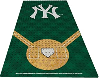 "Oyo Sportstoys MLB New York Yankees 15"" x 7.5"" Display Plate Minifigure, Small, White"