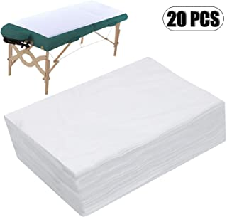 "AQUEENLY Spa Bed Sheets Disposable Massage Table Sheet Waterproof Bed Cover Non-woven Fabric, 31"" x 67"", 20 pcs"