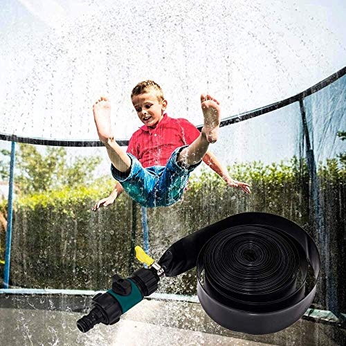 Tll-mm Trampoline Shower Cool Sprinkler For Kids Fun Accessories Addition For Trampoline Mat Summer Water Park(Size:20m-65.6ft) (Color : 12m-39.3ft)